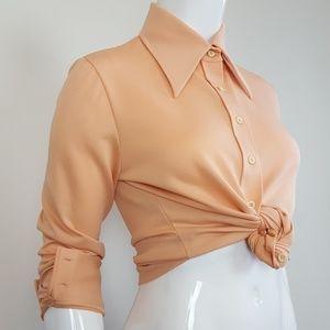 Vintage 70's Peach Button-Up Shirt
